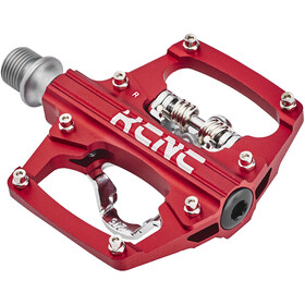 KCNC AM Trap Clipless Pedalen Dual Side, red